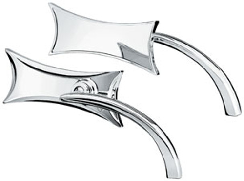 Arlen Ness Four Point Mirror -Chrome  -Right Side Only
