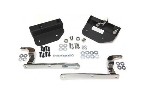Easy Brackets Saddlebag Support System  for '01-Up Triumph Bonneville Chrome