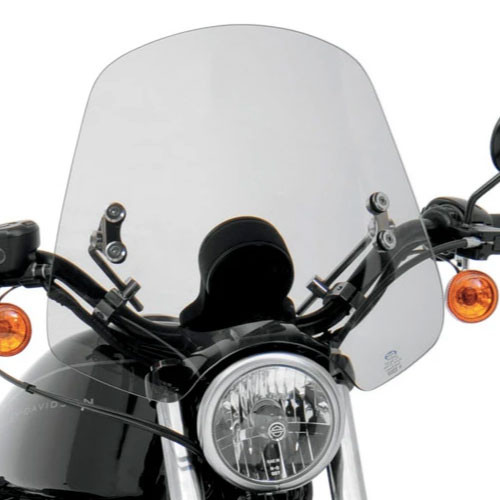 """Memphis Shades Handlebar Mount Windshield -Shooter Style for Suzukis with 7/8-1"""" Bars"""