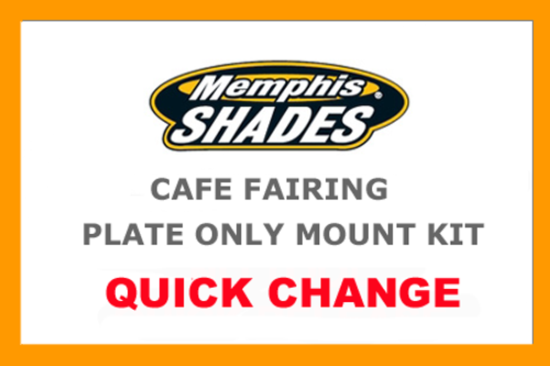 Memphis Shades Cafe Fairing Plate-Only Mount Kit for '06-14 FXD/FXDC/FXDL/FXDB/FXD135 - Polished CAFE FAIRING & MOUNTING KIT SOLD SEPARATELY