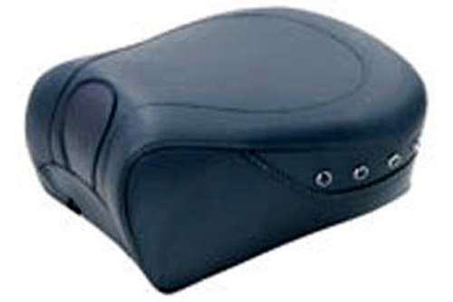 Mustang Seats 11 inch Recessed Rear Seat for Harley Davidson Touring Models 2008-Up -Black Studs
