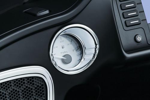 Kuryakyn Tri Line Fuel & Voltage Gauge Bezels for '15-Up Roadglide Models Chrome