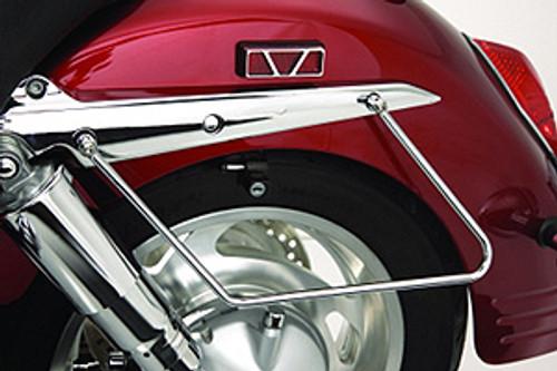 Show Chrome  Saddlebag Support Stays for Spirit 1100  '99-05