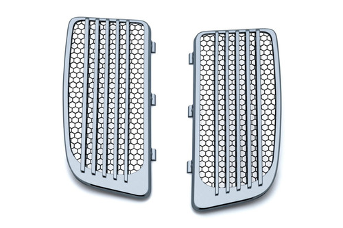 Kuryakyn Radiator Grills '14-Up for Twin Cooled Twin Cams - Chrome