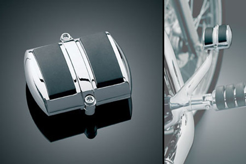 Kuryakyn Clam-Shell Brake Pedal Cover for FXDWG Wide Glides '03-08 &  '08-09 FXDF w/ Forward Controls