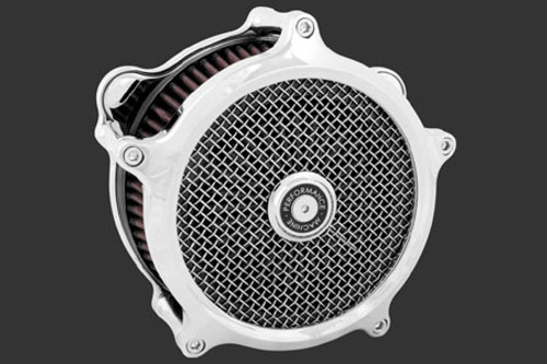 Performance Machine Super Gas Air Cleaners for '93-06 Big Twin w/ CV Carb '01-17 Twin Cam w/Delphi EFI  (exc. '08-Up Touring Models) - Chrome
