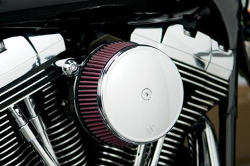 Arlen Ness Big Sucker Stage 1 Performance Air Filter Kits with Cover for '91-Up Harley Davidson XL w/ CV Carb or Delphi EFI - Chrome, Standard Filter
