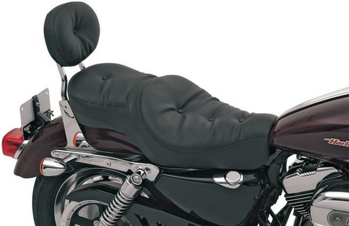 Drag Specialties Wide Low-Profile Seats for '04-Up XL (ALL) -Pillow (Vinyl)