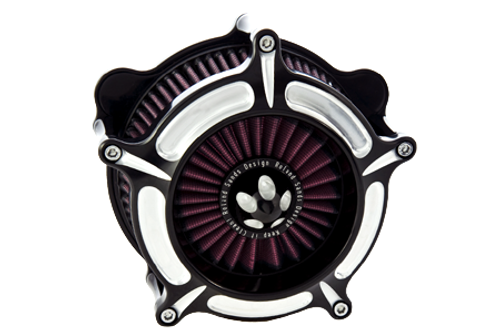 Roland Sands Design Turbine Air Cleaner for '93-06 Big Twin Models w/ stock CV Carb '01-15 Softail Models w/ Delphi EFI '04-17 Dyna Glide w/ Delphi EFI & FLT Models '02-07 w/ Delphi EFI -Contrast Cut