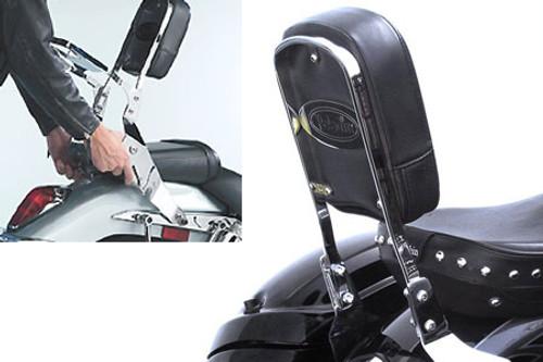 National Cycle-Paladin  QuickSet3 Backrest for V-Star 650 Classic '98-Up, V-Star 1100 Custom/Classic '99-Up, V-Star 1300 '07-Up Royal Star 1300 '96-01 & Road Star 1600/1700 '99-Up QuickSet3 Mounting System Sold Separately