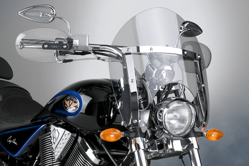 National Cycle SwitchBlade Windshield for Jackpot  '06-13 & Vegas '04-13 - Shorty Style Clear