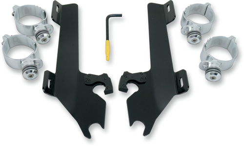 Memphis Shades Batwing Mounting Kit for Mean Streak '04-08 - Black FAIRING AND WINDSHIELD NOT INCLUDED