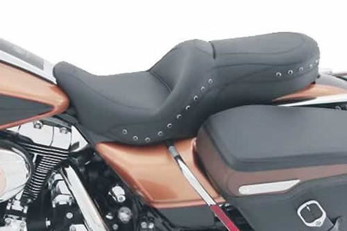 Mustang Seats One-Piece Sport Touring Seat for Harley Davidson Touring Models 2008-Up -Black Studs