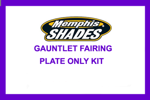 Memphis Shades Gauntlet Plate Only Mount Kit for '95-10 XL 883C/1200C - Black GAUNTLET HARDWARE AND FAIRING SOLD SEPARATELY