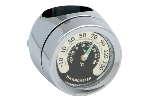 """Drag Specialties Handlebar Mount Thermometer for 7/8"""" or 1"""" Handlebars -Each"""