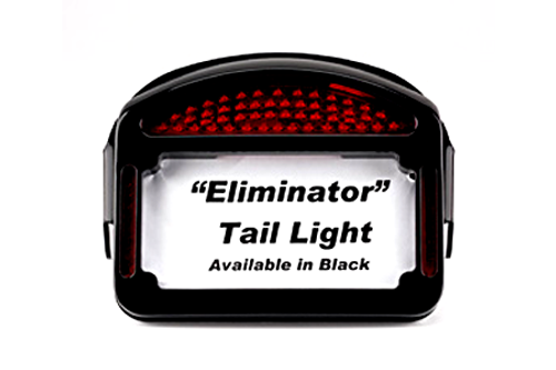 Cycle Visions Eliminator LED Taillight/License Plate Frame -FLSTF '96-99 -Black