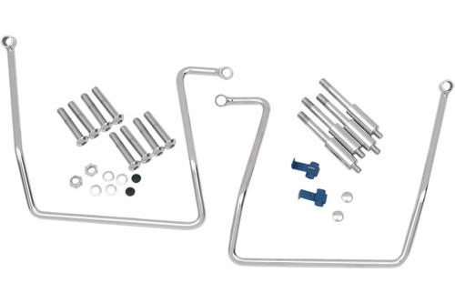 Drag Specialties Chrome Saddlebag Support Brackets for '91-16 FXD, '08-16 FXDF & '93-08 FXDWG Models WILL NOT WORK WITH SISSY BAR