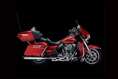 Crusher Performance Crusher Dual Exhaust with Power Cell Smooth Chrome Heat Shields for '95-16 Touring & Trikes Mufflers not included