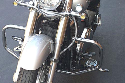 Baron Custom Chrome Engine Guards for Vulcan 900 Classic/Custom LT '06-Up