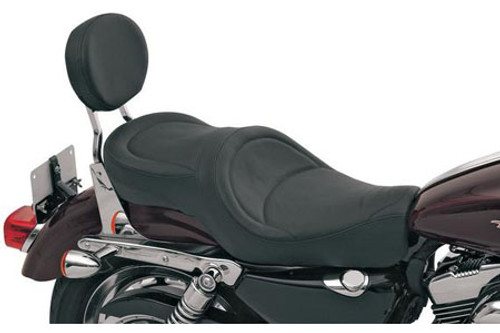 Drag Specialties Wide Low-Profile Seats for '04-Up XL (ALL) -Mild Stitch
