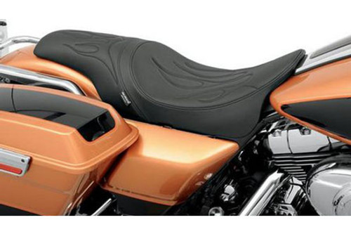 Drag Specialties Predator Seat for '97-07 FLHR , '06-07 FLHX (Except FLHRS/FLHRSE) -Flame Stitch