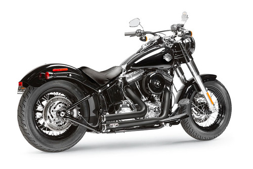 Arlen Ness by Magnaflow Lowdown Exhaust System for '96-15 Softail Models Black