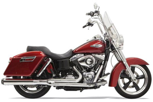 Bassani Road Rage 2-Into-1 Exhaust System for FLD Switchback '12-17  -Chrome