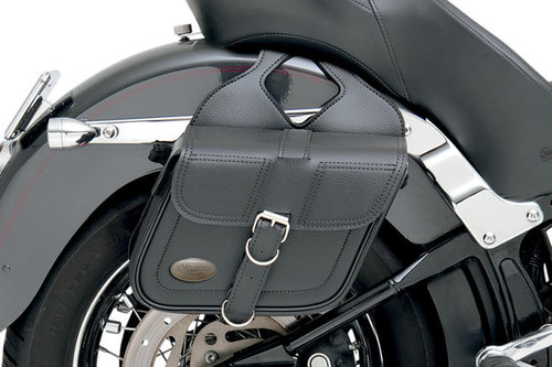 All American Rider Slant Flap Over Style Saddlebags -Medium, Plain