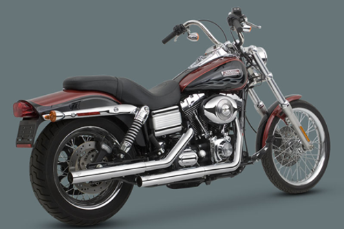 Vance & Hines Straightshots HS Slip-On Mufflers for Harley Davidson Dyna  '91-17 (exc  '10-11 FXDWG & '08-11 FXDF)