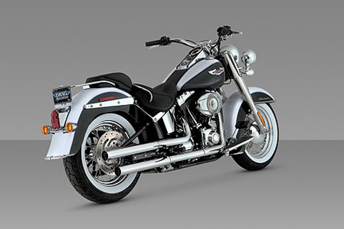 Vance & Hines Straightshots HS Slip-On Mufflers for '07-17 Harley Davidson Softail Deluxe and Slim
