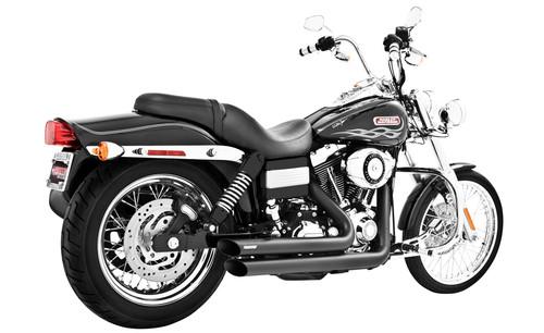 Freedom Performance Exhaust Amendment Slash Cut for Dyna '06-17 - Black