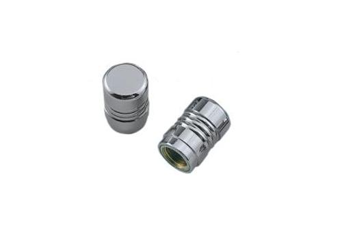 Drag Specialties Chrome Piston Valve Stem Covers Pair