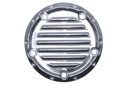 Covingtons Customs Points Cover for '99-Up Twin Cam Models -Chrome, Dimpled