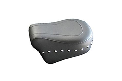 Mustang Seats 11 inch Rear Seat for Harley Davidson Touring Models 2008-Up -Chrome Studs