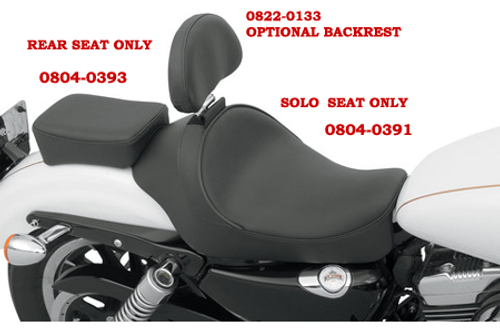 Drag Specialties Rear Seat for '04-Up XL  -Smooth