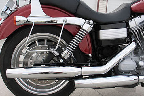 """Khrome Werks 3"""" HP-Plus Slip-On Mufflers for '04-13 XL Models (with crossover connection)  -Tapered"""