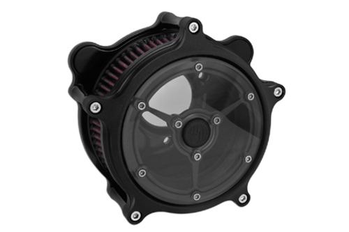 Roland Sands Design Clarity Air Cleaner for '08-16 FL Throtle-by-Wire Models -Black Ops