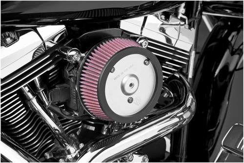 Arlen Ness   Big Sucker Stage 1 Performance Air Filter Kits for '08-Up FXD Standard Filter -Chrome Backing Plate Must use OEM Outer Cover Only
