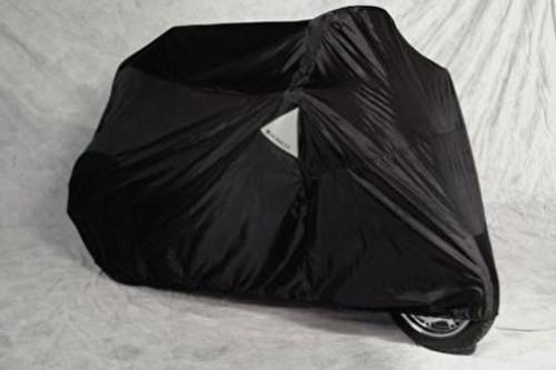 Dowco/Guardian Weatherall Plus Motorcycle Cover -Black, Small/Medium Cruisers w/ Sissy Bar & Saddlebags