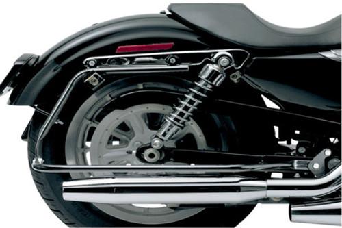 Cycle Visions Bagster Black Saddlebag Mounts for '04-13 Sportster XL (except 883N/1200N/1200V)