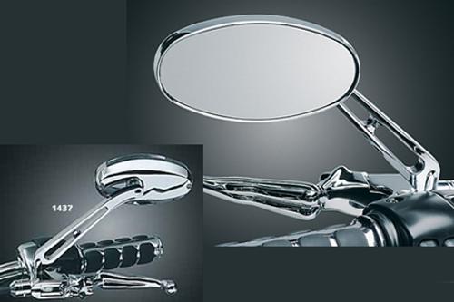 Kuryakyn Ellipse Mirrors (Pair)-Flat Glass