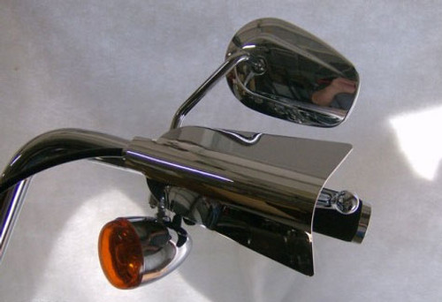 Great Bike Gear  Hand Shields for  Sportster '04-Up -Chrome