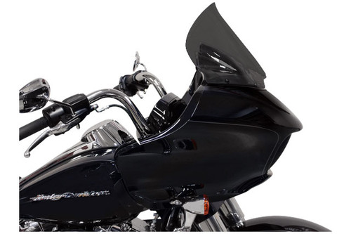 """Klock Werks 12"""" Pro-Touring Flare Windshield for '15 Road Glide Custom and Road Glide Special Dark Smoke"""