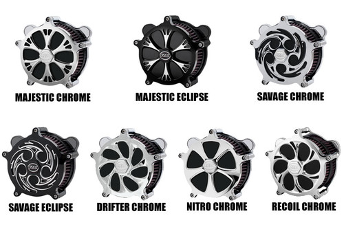 RC Components Airstrike Air Cleaners for Harley Davidson Touring and Trike Models '08-16