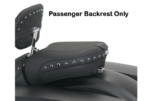 Mustang  Passenger Seat with Receiver ONLY for '97-07  FLHT/FLTR/FLHR/FLHX & '08-Up FL -Chrome Studs (Shown in Black Studded) DOES NOT INCLUDE BACKREST