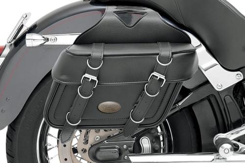 All American Rider Box-Style Slant Saddlebags Large, Plain