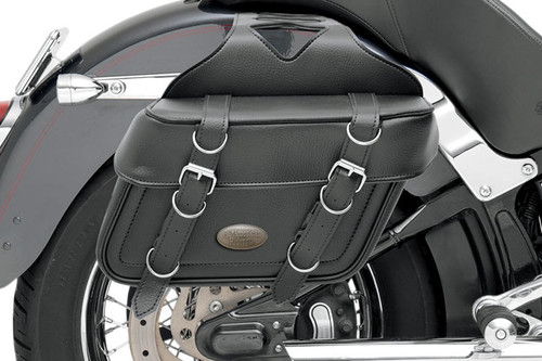 All American Rider Box-Style Slant Saddlebags Large, Plain
