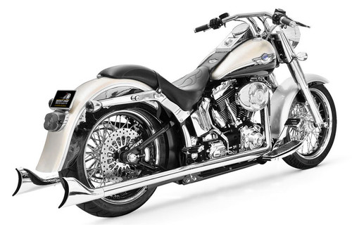 "Freedom Performance Sharktail System for '97-06 Softail - Extended 39"", Chrome"