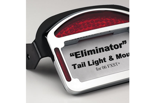 Cycle Visions Eliminator LED Taillight/License Plate Frame -FLSTF '00-Up -Chrome