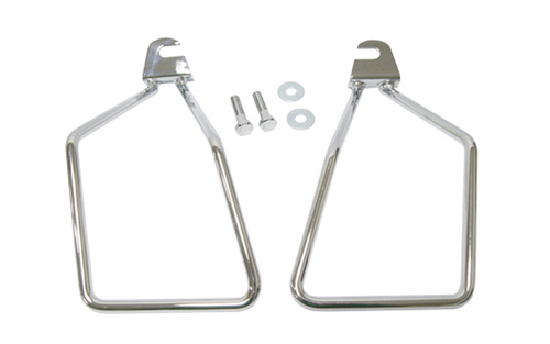 Hard Drive Saddlebag Supports for '00-Up FXST Single Bolt  (except FXSTD/C) -Pair
